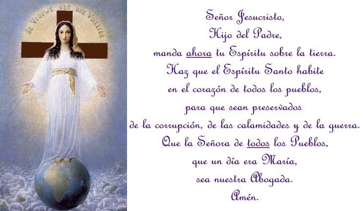 Porla proclamación del dogma de María como Corredentora,abogada y ...